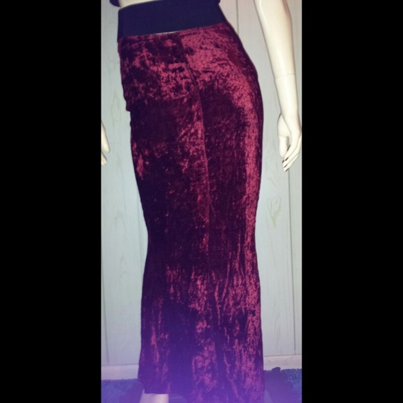 729708a73c Vintage Skirts | Sexy Vtg 90s Goth Velvet Vampy Wiggle Pencil Skirt ...